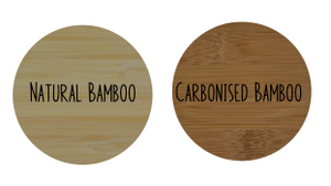 Bamboo and Acrylic Round Name Plaque with Border