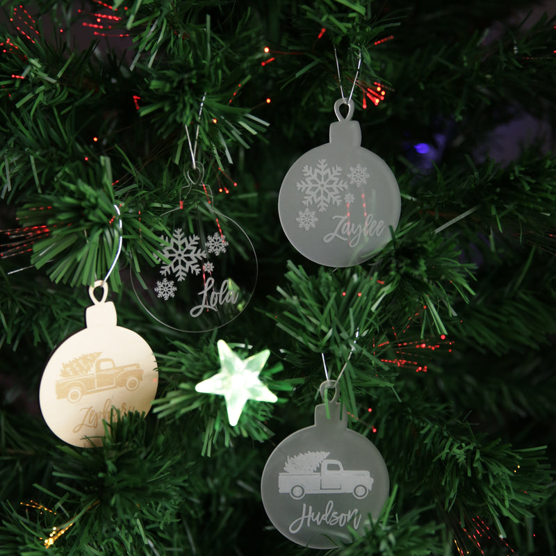 Christmas Ornament- Bauble with Graphic and Year optional