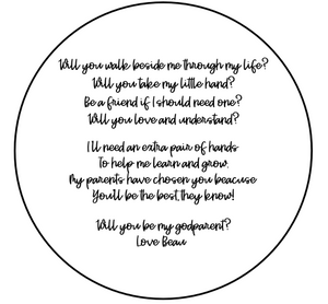 Godparents Round Plaque