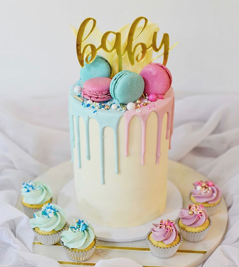 This gorgeous laser cut Oh Baby Cake Topper is the perfect addition to your Baby Shower Available in acrylic or bamboo. This word Baby is in a lovely script font.