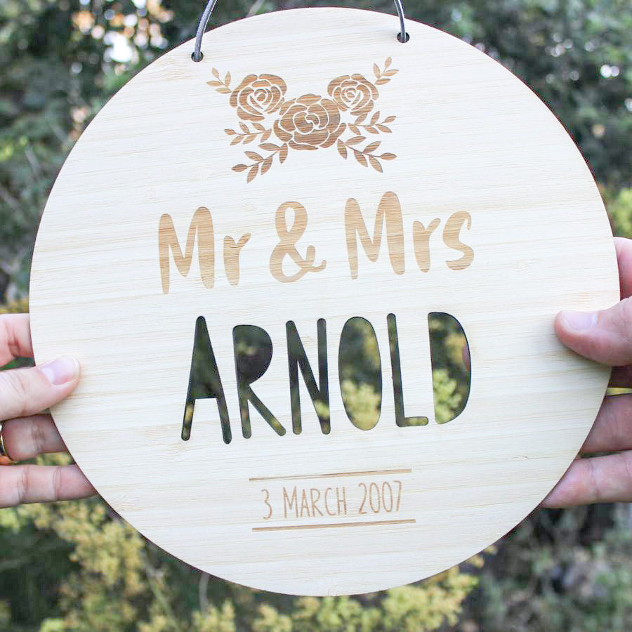 Round Wedding Plaque