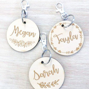 Wooden Bag Tag