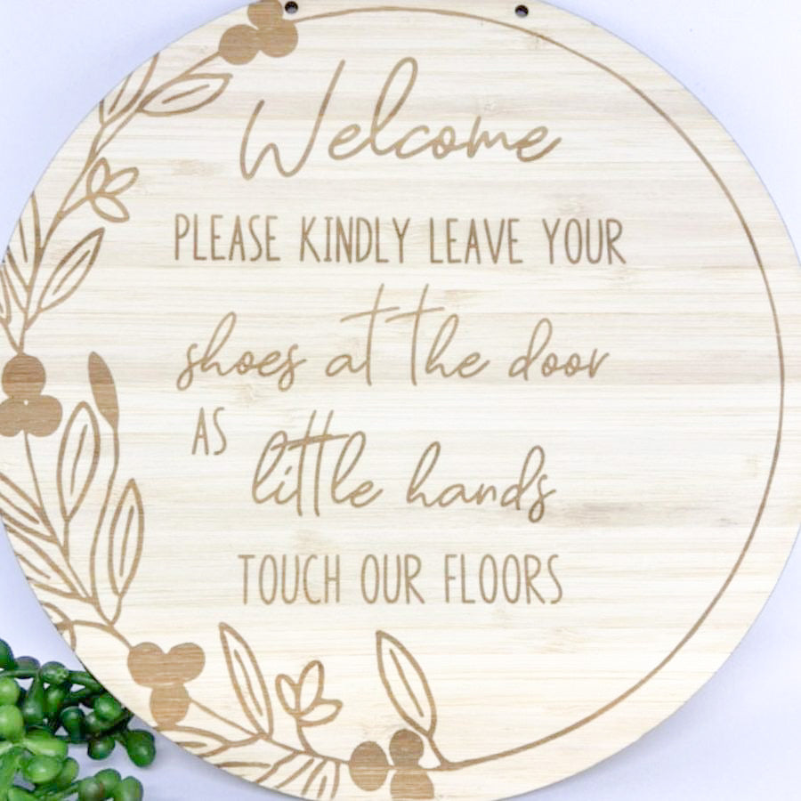 New Baby - ''Leave your shoes at the door' Plaque
