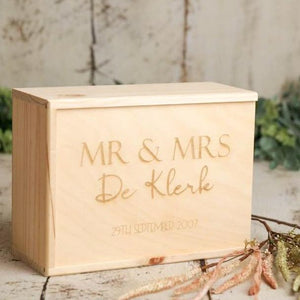 Wedding Keepsake Box - Option 1