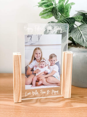 Father's Day Acrylic Photo Block - portrait