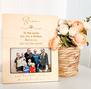 Mother's Day Magnetic Photo Frame with script
