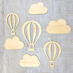 Wooden Balloons and Clouds
