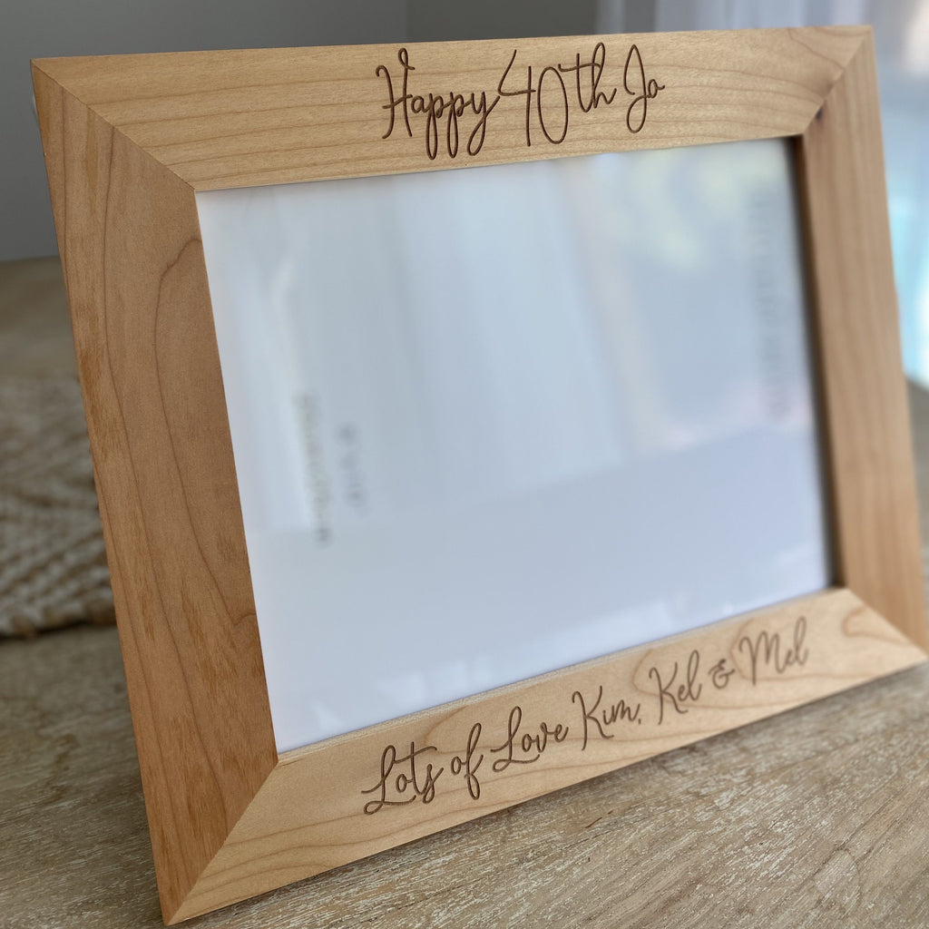 Personalised Engraved Wooden Photo Frame