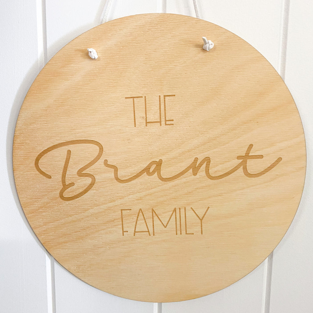 Round Family Plaque 2
