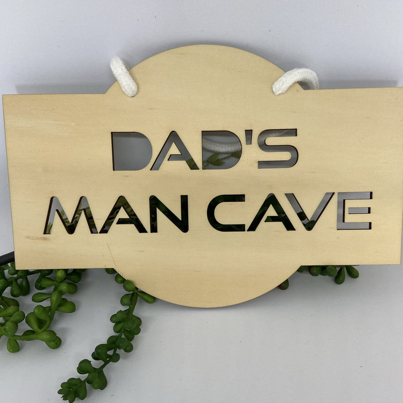 Dad's Mancave sign