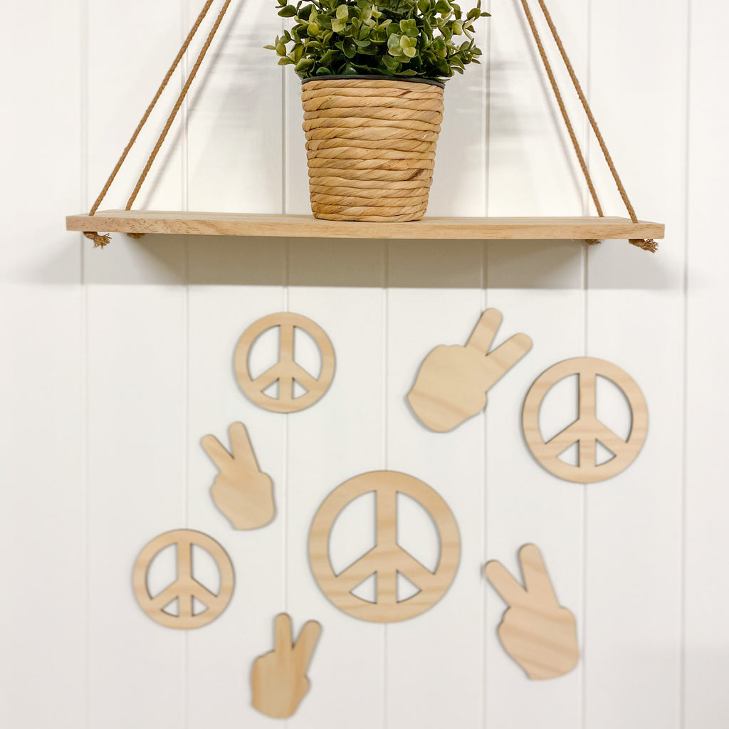 Wooden Peace Signs