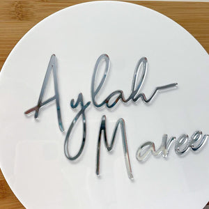 Acrylic Round Name Disc