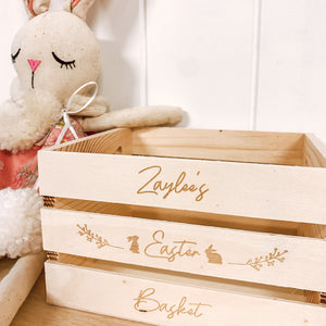 Small Wooden Easter Basket