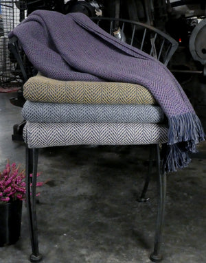Assorted Single and Limited Pattern Weaves in Lambswool / Ringspun Cotton