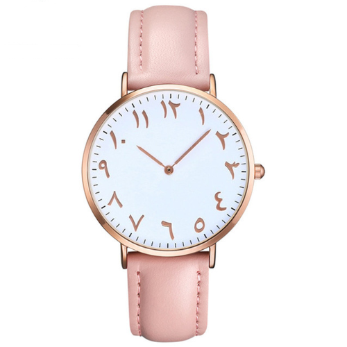 Al Latif - Pink Leather Rose Gold Watch