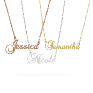 English Personalised Name Necklace