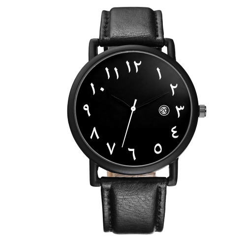 Al Qatif - Black Leather Watch