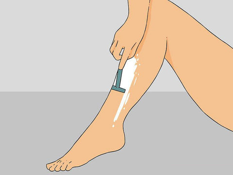 Illustration Shave Leg