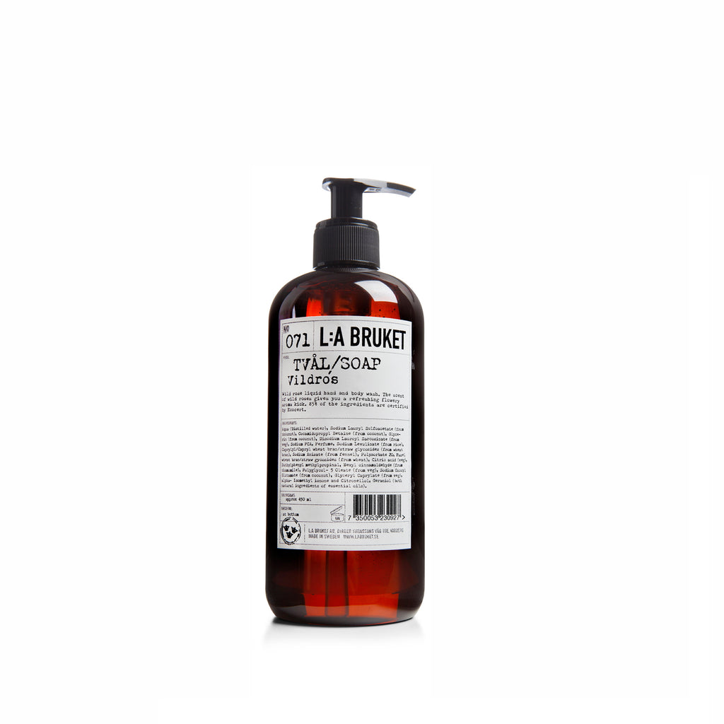 NO. 071 WILD ROSE LIQUID SOAP 450 ML | L:A BRUKET | Natürlich, Vegan, Bio, Natural | Online Shop Blanda Beauty