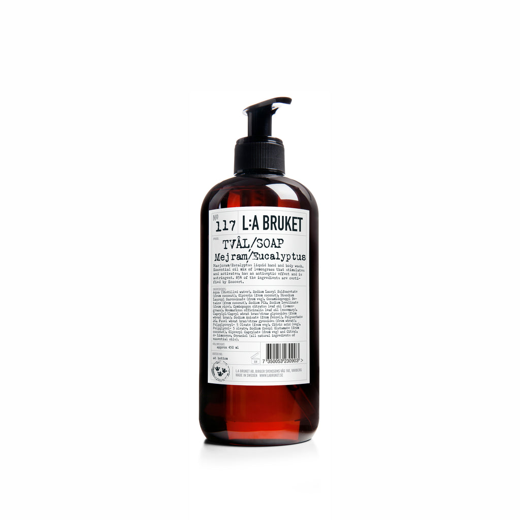 NO. 104 BERGAMOT PATCHOULI LIQUID SOAP 450 ML | L:A BRUKET | Natürlich, Vegan, Bio, Natural | Online Shop Blanda Beauty
