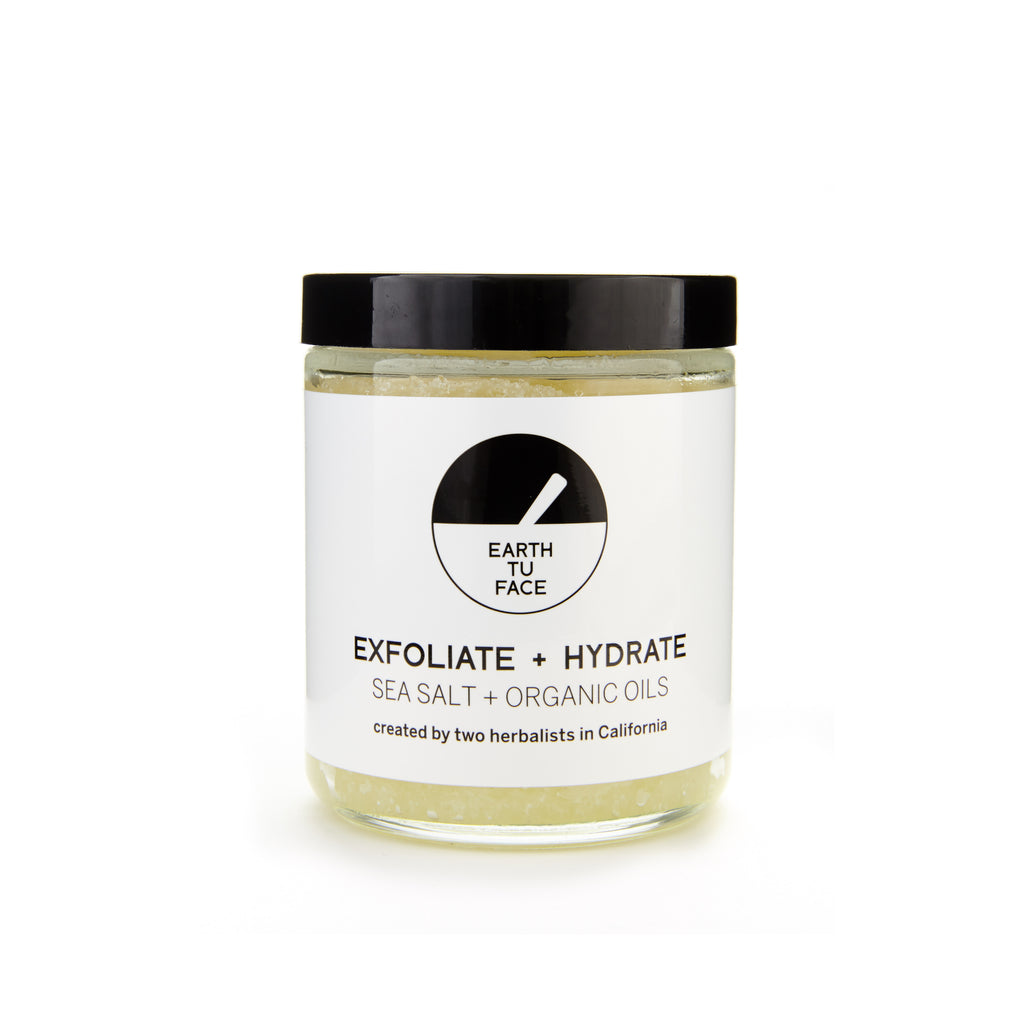 Salt Scrub Sea Salt + Organic Oils 236 ml von Earth Tu Face | Peeling | Naturkosmetik
