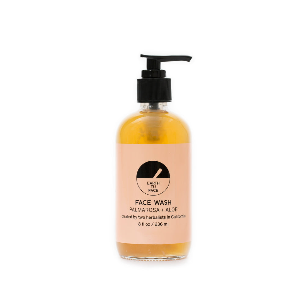 Face Wash Palmarosa + Aloe 227 ml von Earth Tu Face | Reinigung | Naturkosmetik