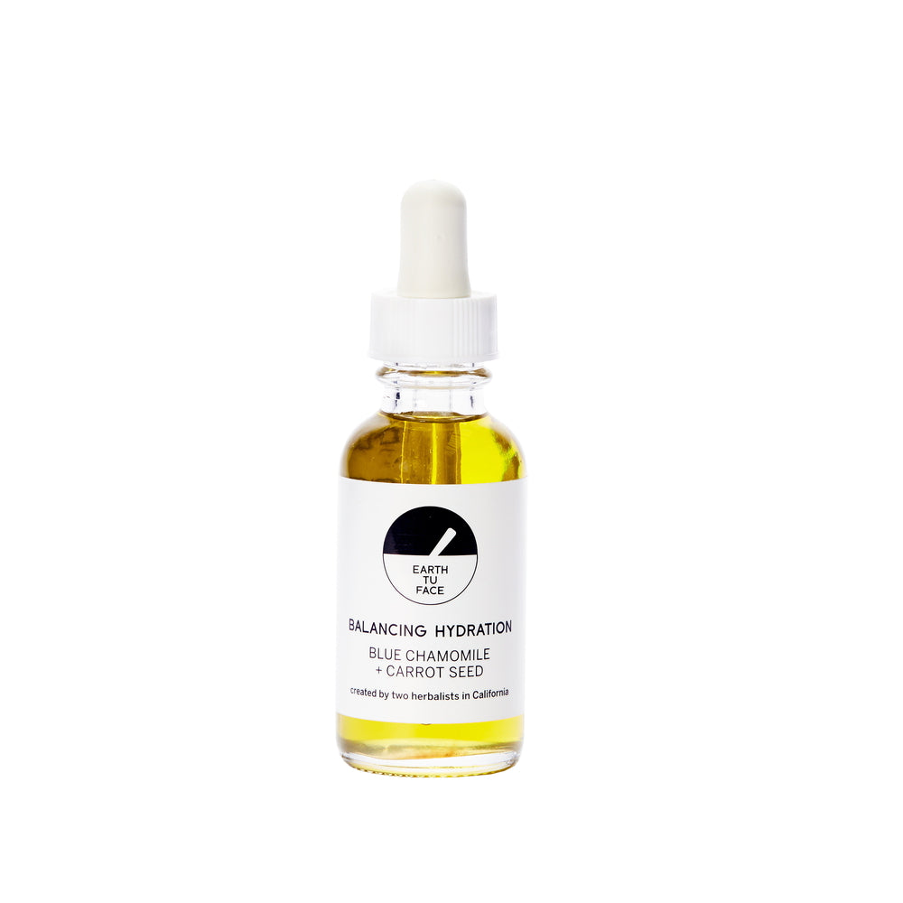 Face Serum Blue Chamomile + Carrot Seed  25 ml von Earth Tu Face | Öl & Serum | Naturkosmetik