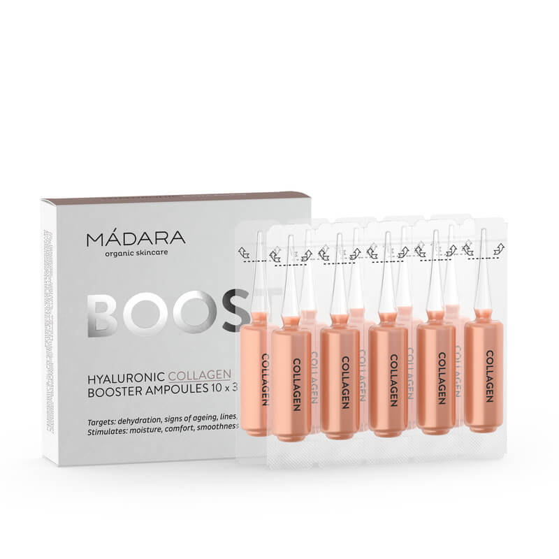 Mádara Boost: Hyaluronic Collagen Ampullen 3 ml x 10 Stück