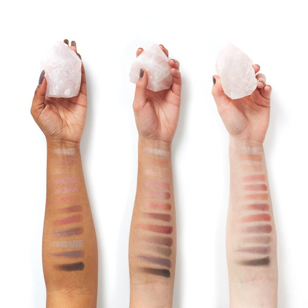 Aether Beauty Rose Quartz Crystal Gemstone Palette - Arm Swatches