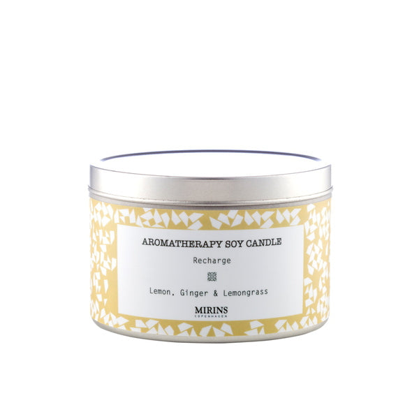 Mirins Copenhagen Soy Candle Recharge - Lemon, Ginger & Lemongrass