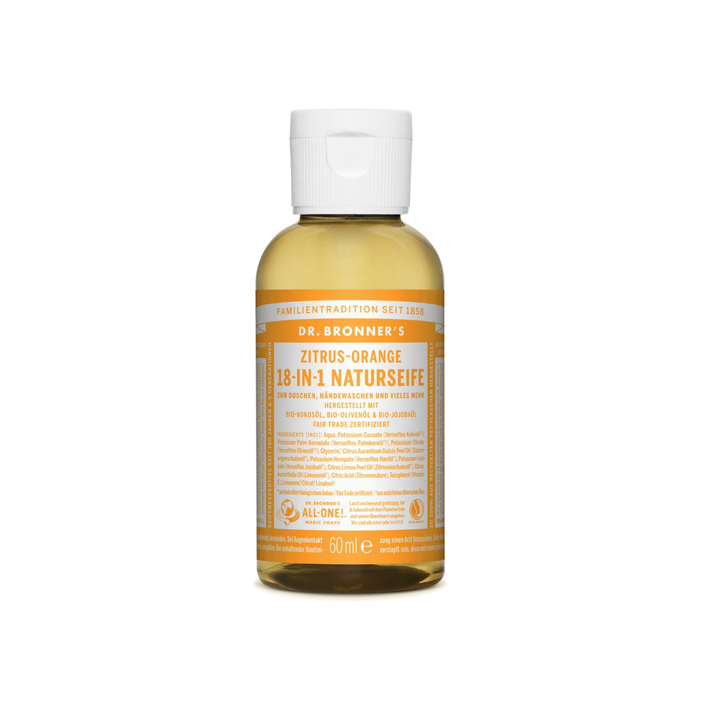 Dr. Bronner's 18-In-1 Naturseife Zitrus-Orange ab 60 ml