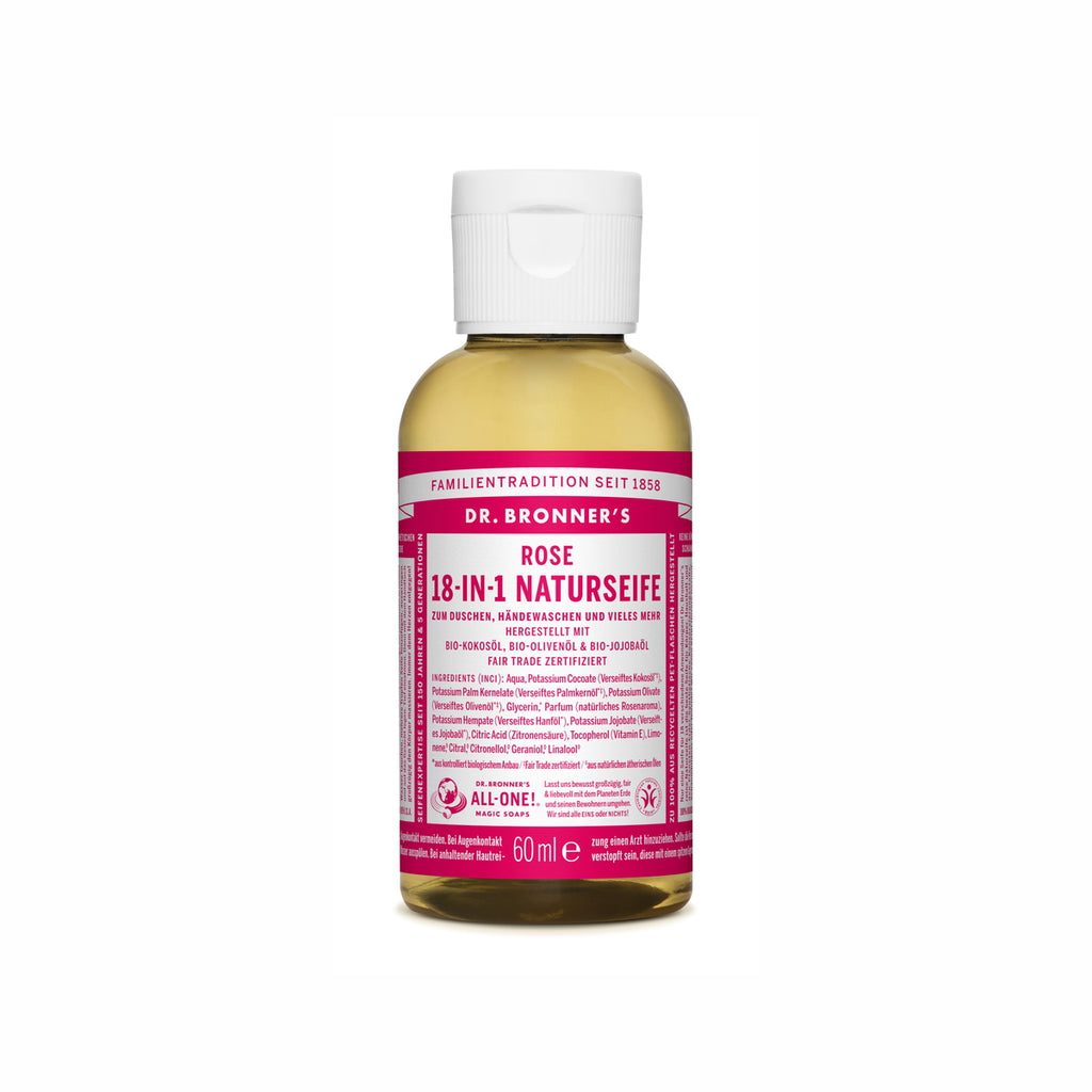 Dr. Bronner's 18-In-1 Naturseife Rose ab 60 ml