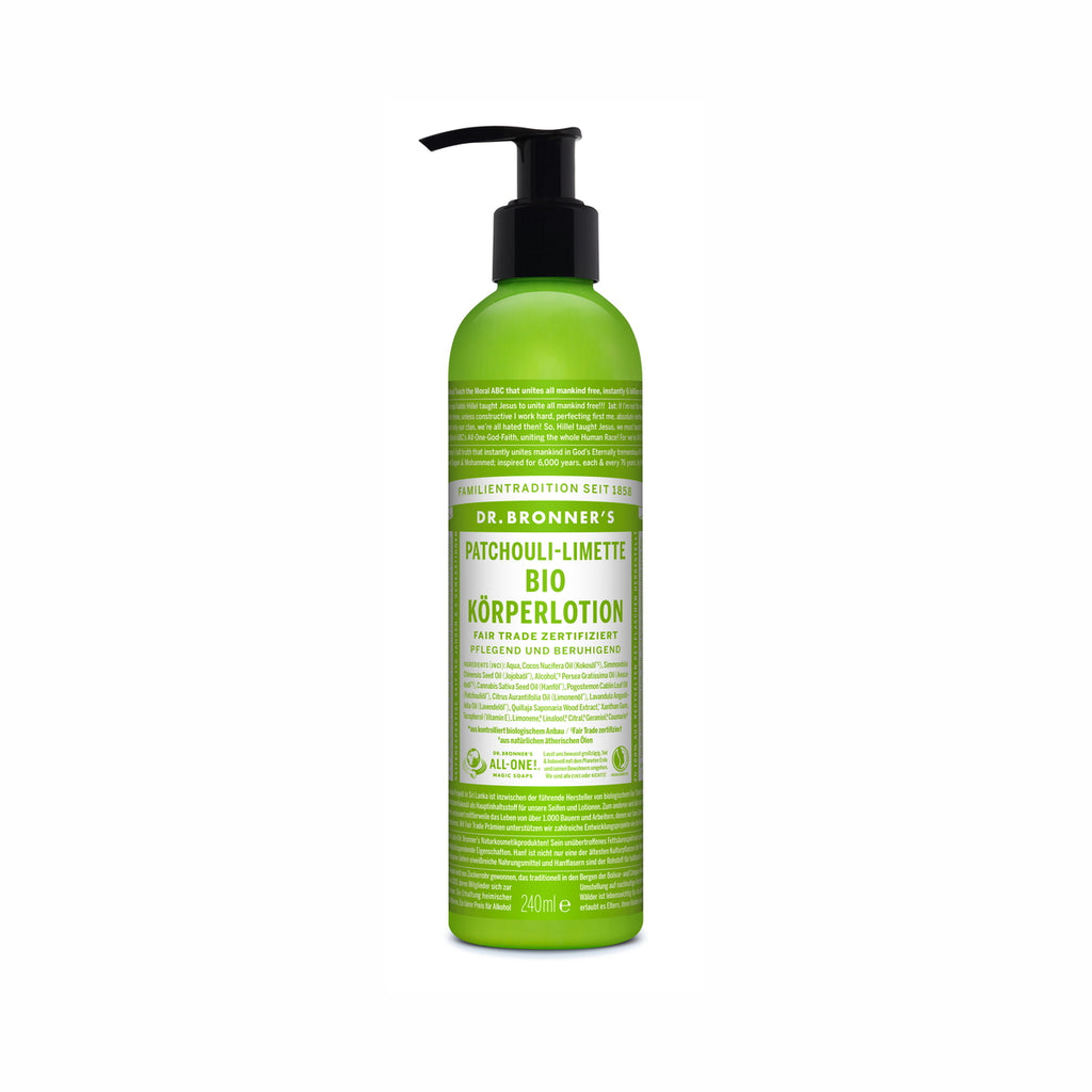 BIO KÖRPERLOTION PATCHOULI-LIMETTE 240 ML from DR. BRONNER'S at Blanda Beauty in Deutschland kaufen