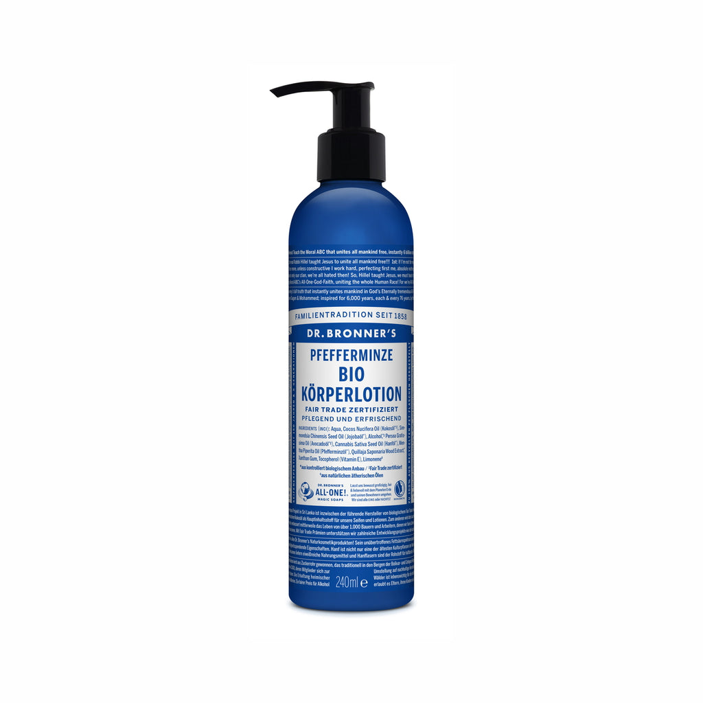 Dr. Bronner's Bio Körperlotion Pfefferminze 240 ml