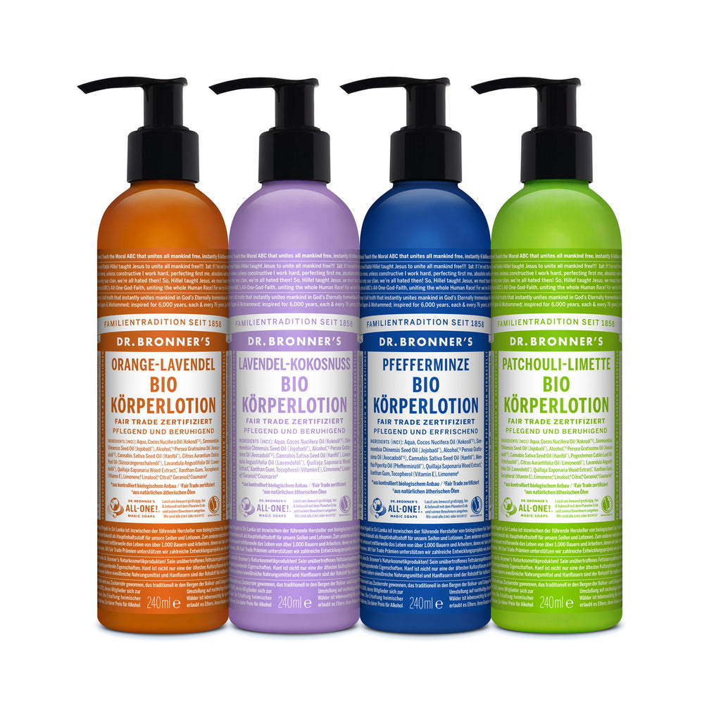 BIO KÖRPERLOTION ORANGE-LAVENDEL 240 ML | DR. BRONNER'S | Natürlich, Vegan, Bio, Natural | Online Shop Blanda Beauty