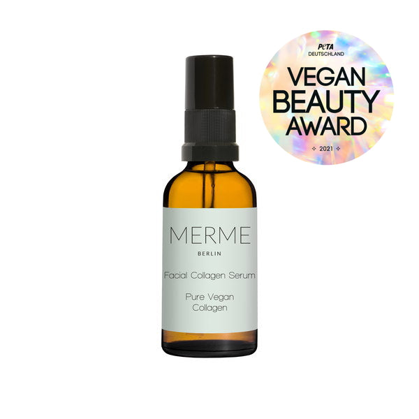 Merme Berlin Facial Collagen Serum 30 ml - with vegan beauty award badge