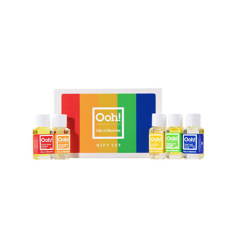 Oils Of Heaven Mini Gift Set  5 x 5 ml von Ooh! Oils Of Heaven | Natürliche vegane Kosmetik