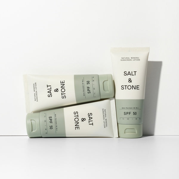 Salt & Stone Natural Mineral Sunscreen Lotion SPF 50 - group photo