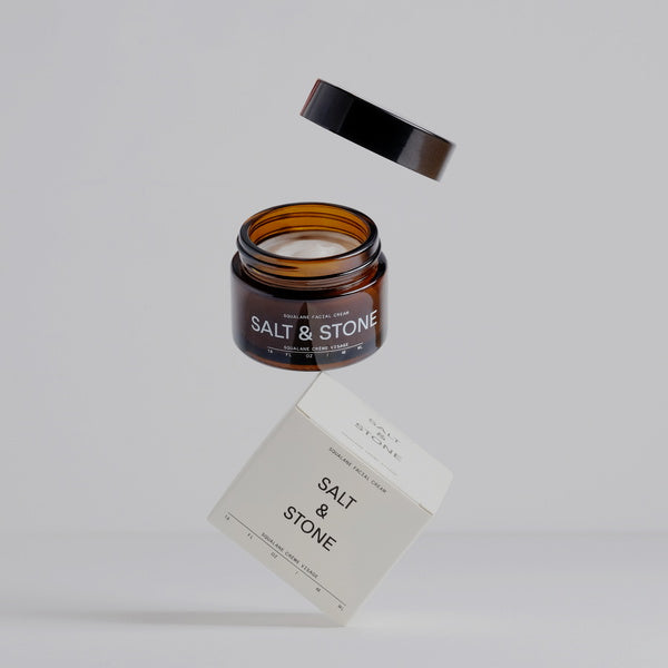 Salt & Stone Squalane Facial Cream - art image floating in air