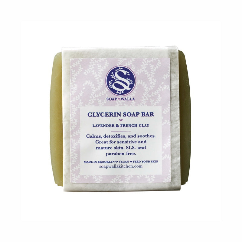 Soapwalla Kitchen Lavender & French Clay Facial Soap Bar 113 g