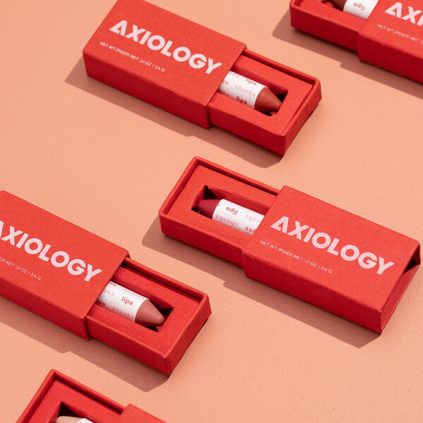 Axiology Lip to Lid Balmie Packaging