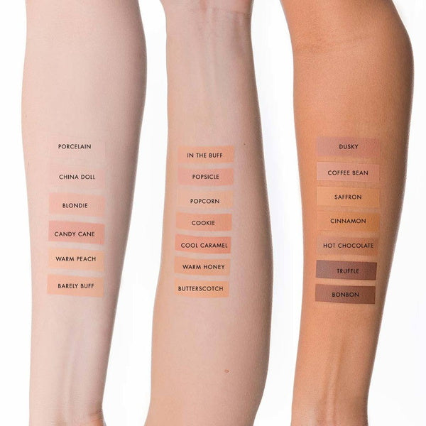 Lily Lolo Mineral Foundation SPF 15 - Candy Cane Arm Swatches