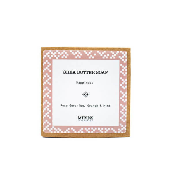 Shea Butter Soap Happiness - Rose Geranium, Orange & Mint 75 g