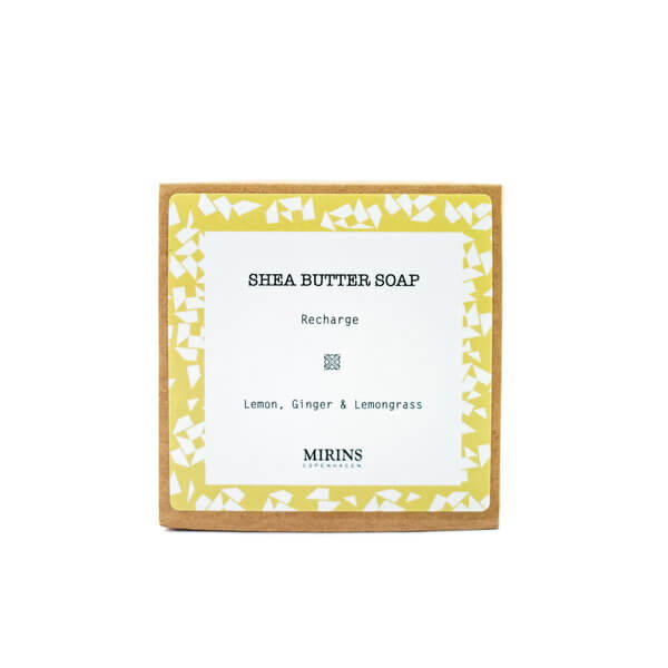 Mirins Copenhagen Shea Butter Soap Recharge - Lemon, Ginger & Lemongrass 75 g
