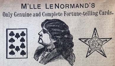 M'lle LeNormand Fortune Telling Cards Advertisement
