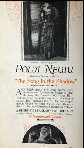 The song in the shadow A Paramount Picture