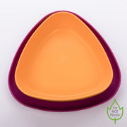 Bowl and Plate Set orange/purple
