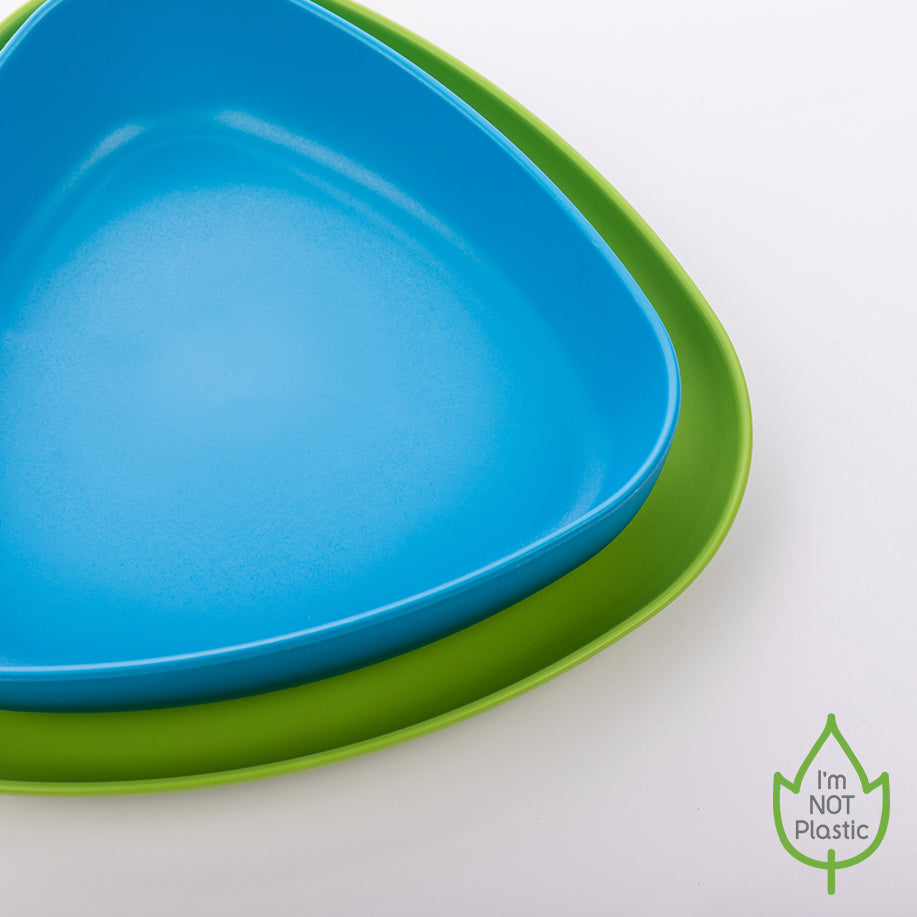 Bowl and Plate Set blue/green