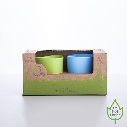 Mugs 2 pcs blue/green