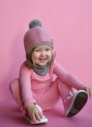 SUMEE CLASSIC Beanie & Scarf Combined Pink Melange